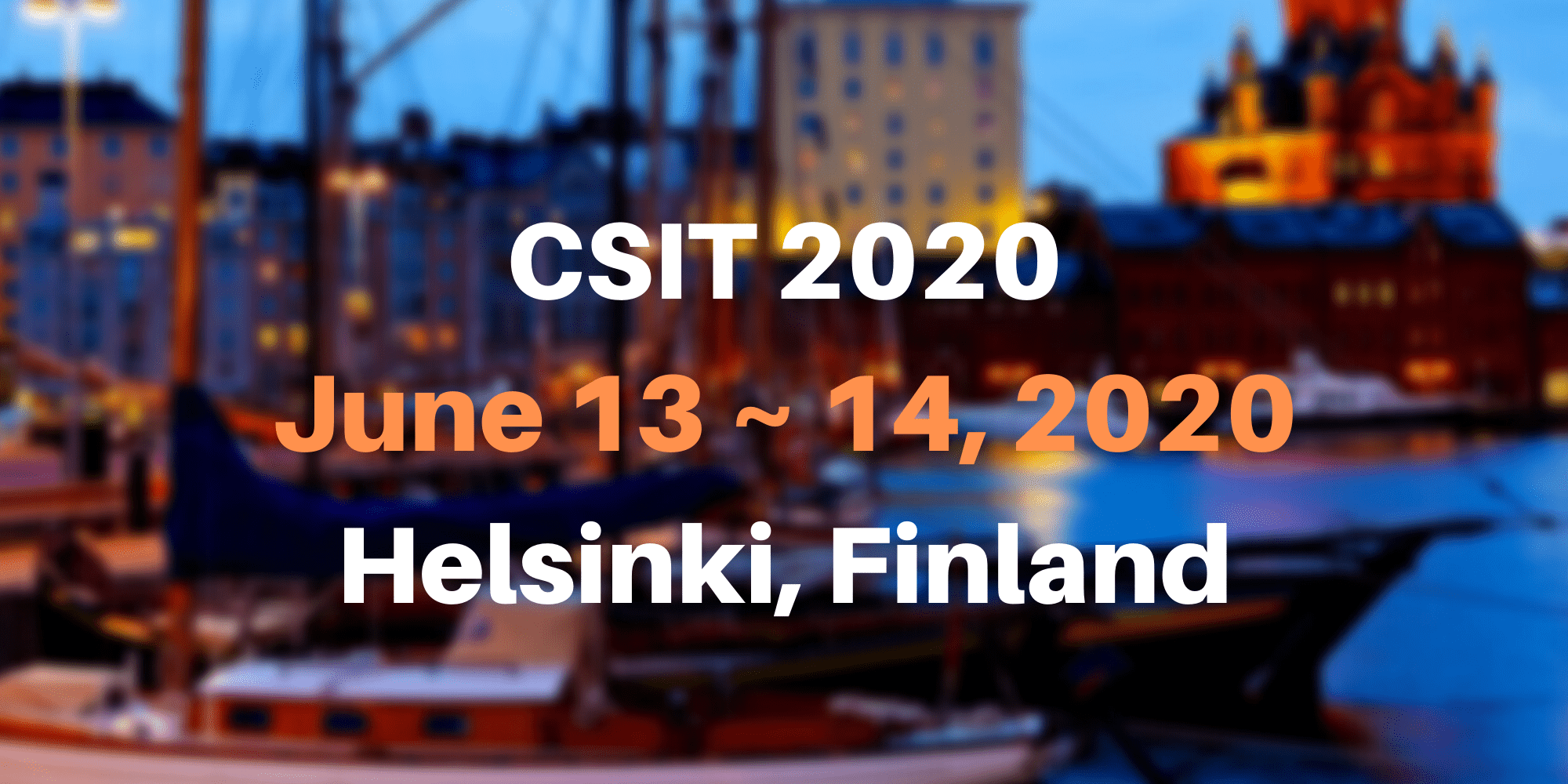 7th International Conference on Computer Science and Information Technology (CSIT 2020)